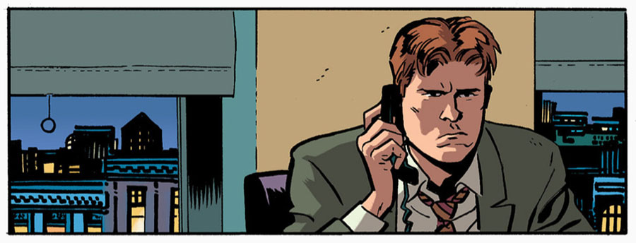 Foggy does his angry face, from Daredevil #18 by Mark Waid and Chris Samnee