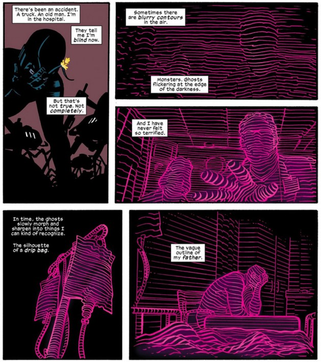 Radar scene, from Daredevil #16, by Mark Waid and Chris Samnee