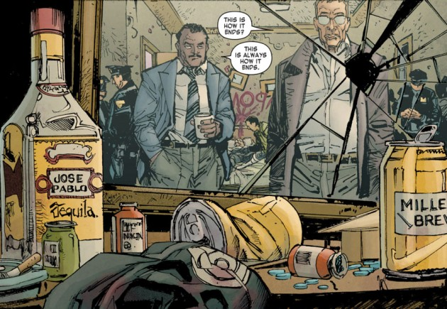 Bullseye's booze, from Daredevil: End of Days #4, by Brian Bendis, David Mack and Klaus Janson