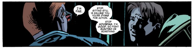 Matt and Foggy having a moment, from Daredevil #24 by Mark Waid and Chris Samnee