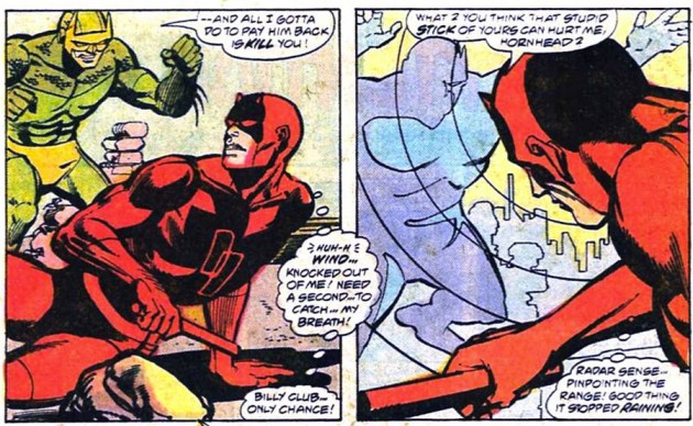 Daredevil and Smasher, from Daredevil #149 by Jim Shooter and Klaus Janson