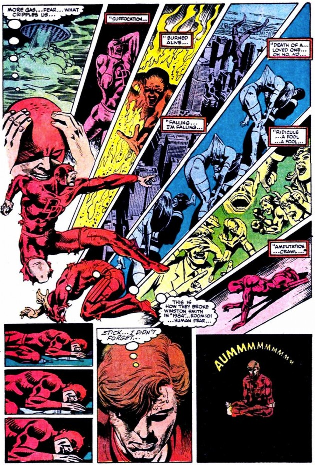 Daredevil experiences fear, from Daredevil #208