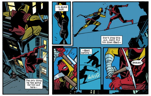 Daredevil versus Ikari, from Daredevil #25 by Mark Waid and Chris Samnee