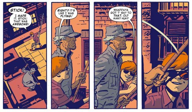 Matt and Stick, from Daredevil #25 by Mark Waid and Chris Samnee