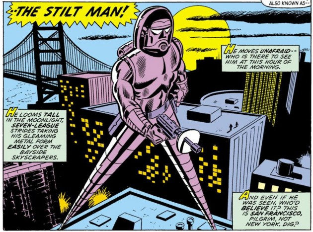 Stilt-Man stalks the streets of San Francisco as seen in Daredevil #102, by Chris Claremont and Syd Shores