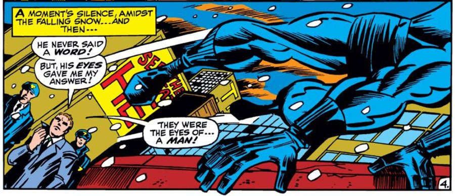 Matt fakes his own death, in Daredevil #54, by Roy Thomas and Gene Colan