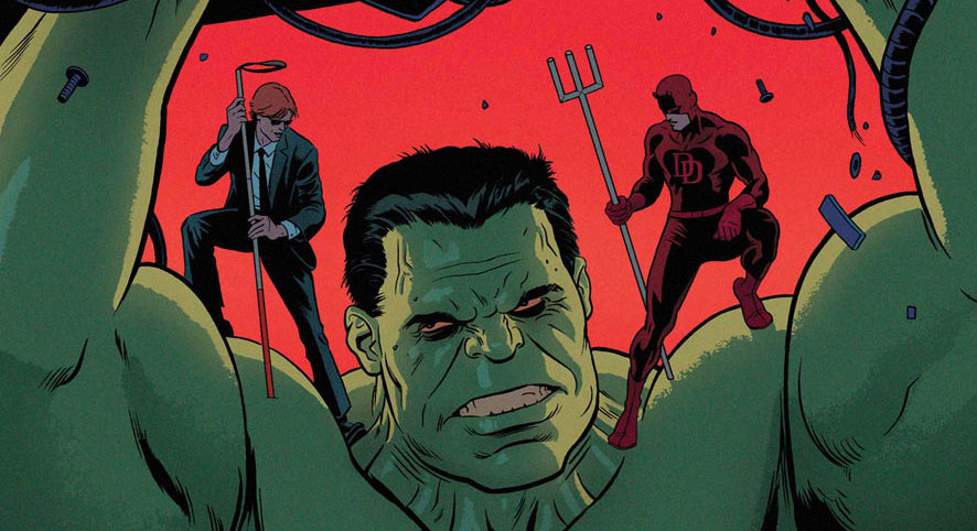 Part of the cover to Daredevil #9, by Paolo Rivera