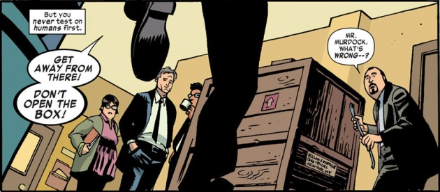Some of the office staff, as seen in Daredevil #24 by Mark Waid and Chris Samnee