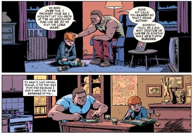 Young Matt and Jack, from Daredevil #28 by Mark Waid and Javíer Rodriguez