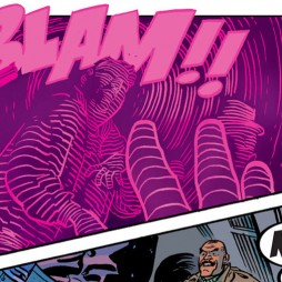 Daredevil sees Coyote shoot a mobster, as seen in Daredevil #19, art by Chris Samnee