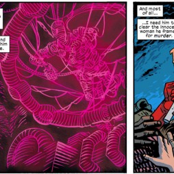 The Spot strung up, from Daredevil #21, art by Chris Samnee