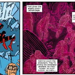 Daredevil faces chaos, as seen in Daredevil #23, art by Chris Samnee