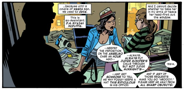 It's Kirsten McDuffie! From Daredevil #30 by Mark Waid and Chris Samnee