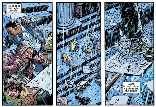 Caught in the rain, from Daredevil #31 by Mark Waid and Chris Samnee