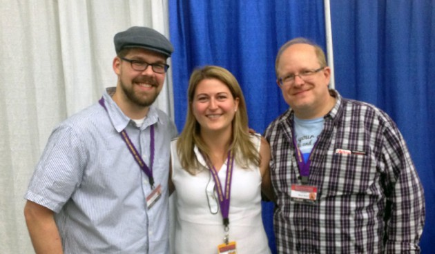 Me at Baltimore Comic Con with Mark Waid and Chris Samnee