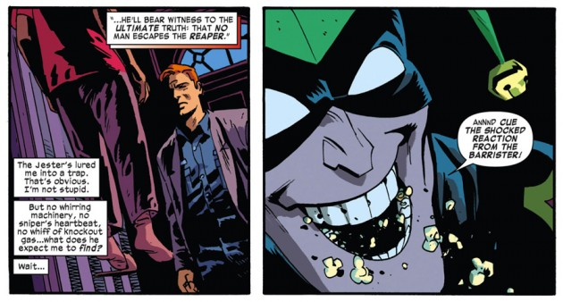Matt in the Jester's house, as seen in Daredevil #32 by Mark Waid and Chris Samnee