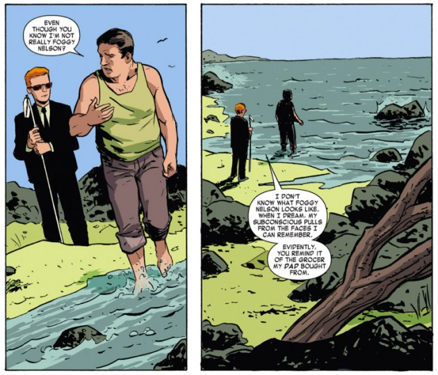 Matt dreams about Foggy, from Daredevil #33 by Mark Waid, Chris Samnee and Jason Copland