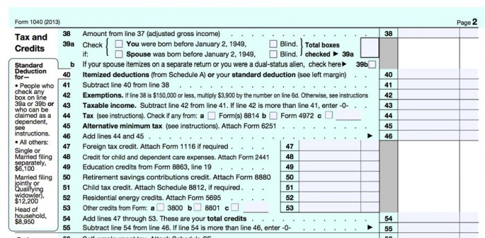 A shot of the relevant portion of a 1040 IRS tax form.