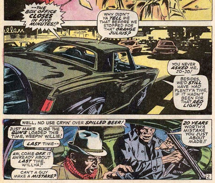 We shouldn't have stopped for an Orange Julius, from Daredevil #62 by Roy Thomas and Gene Colan