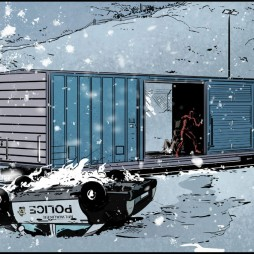 Fourth panel of four, from Daredevil: Road Warrior #2 by Mark Waid and Peter Krause