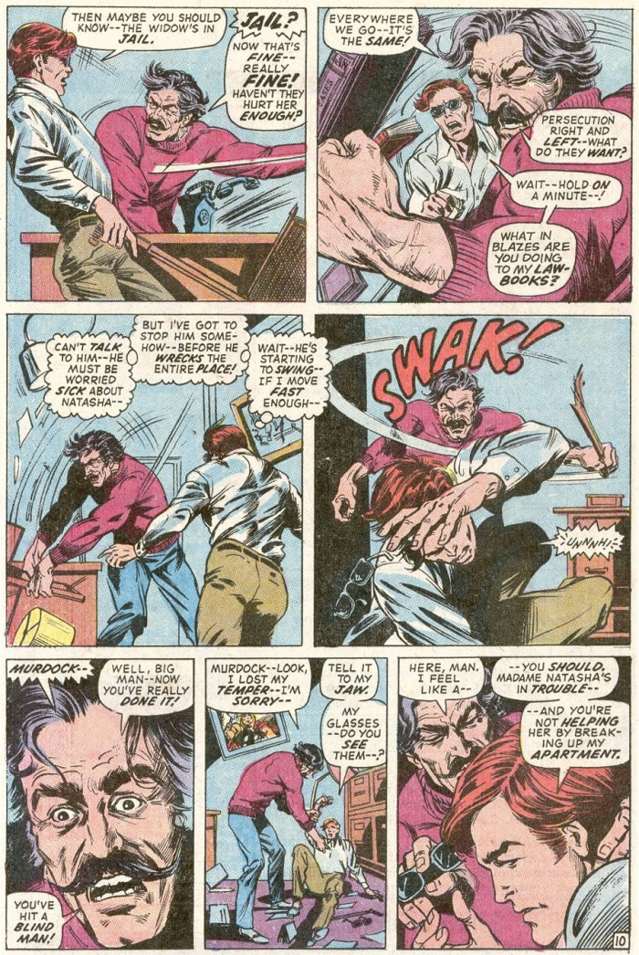 Ivan goes nuts in Daredevil #83, by Gerry Conway and Alan Weiss