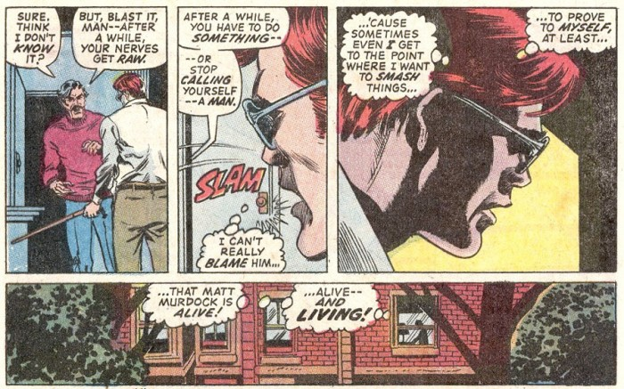 Matt relates to crazy Ivan, as seen in Daredevil #83, by Gerry Conway and Alan Weiss