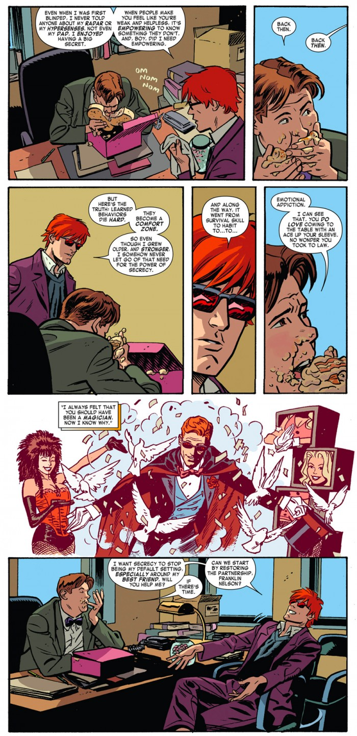 Scene from Daredevil #22, by Mark Waid and Chris Samnee