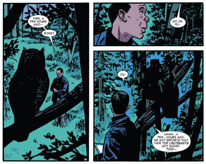 The Owl is back! From Daredevil #3 by Mark Waid and Chris Samnee
