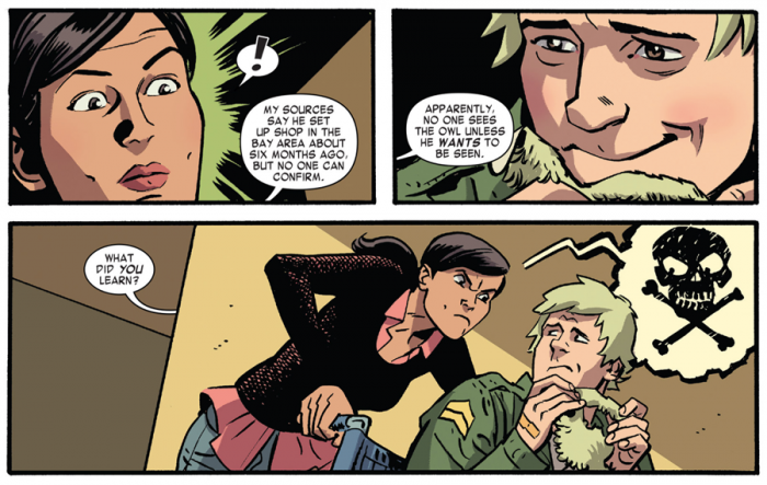 Kirst<pen is angry at Foggy, as seen in Daredevil #3