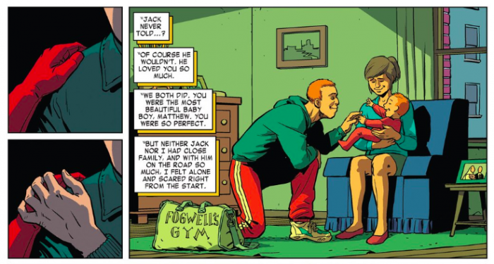 "Jack and Grace  ""Maggie"" Murdock,  as seen in Daredevil #7 by Mark Waid and Javier Rodríguez"
