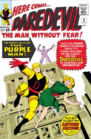 The cover to Daredevil #4 (vol 1), by Jack Kirby and Vince Colletta