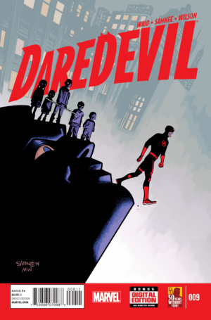 The cover to Daredevil #9 (vol 4), by Chris Samnee and Matt Wilson