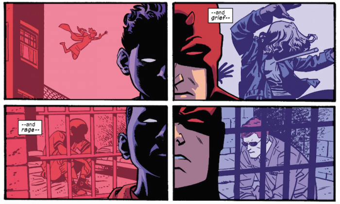 The Purple Children are leaking emotions that resonate with Matt, Daredevil #9 by Mark Waid and Chris Samnee