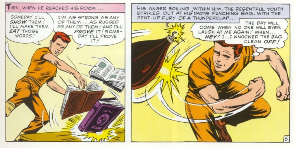 Panel from Daredevil # 1 by Stan Lee and Bill Everett