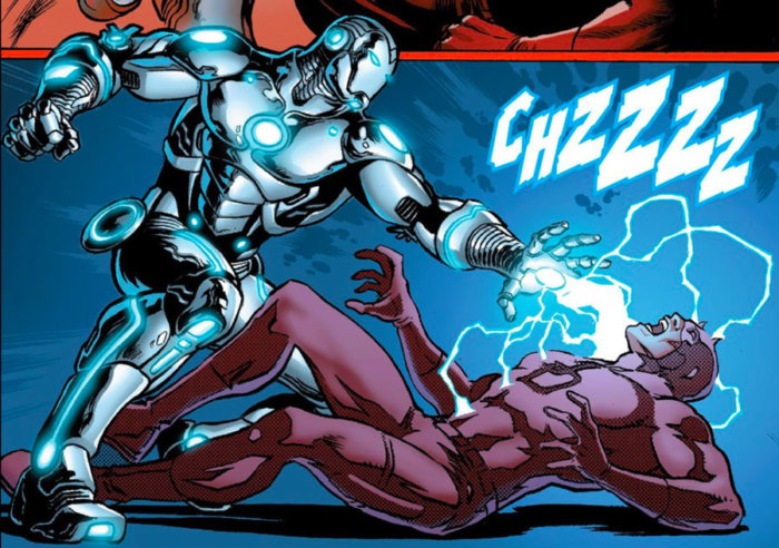 Iron Man versus Daredevil in Superior Iron Man #2, by Tom Taylor and Yıldıray Çınar