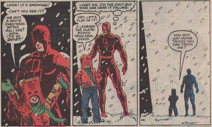 Daredevil, as seen in Daredevil #241 by Ann Nocenti and Todd McFarlane