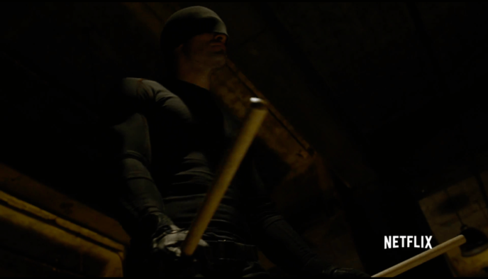 Costume and billy clubs, from the Daredevil trailer