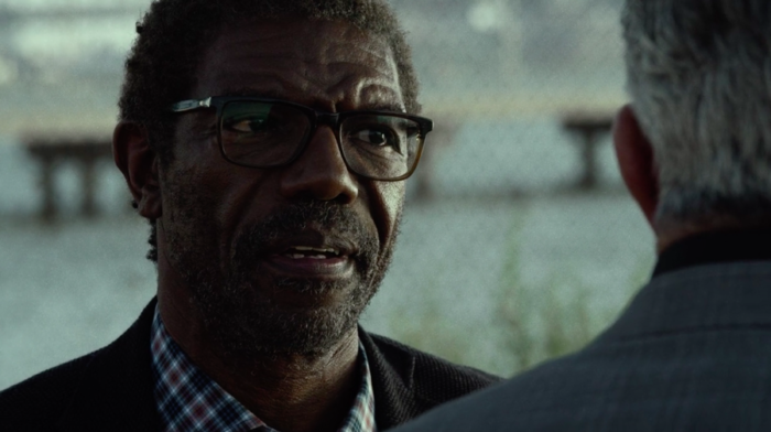 Ben Urich speaking to retiring mobster Silvio, as seen in the third episode of Marvel's Daredevil
