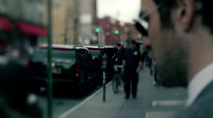 Matt follows Wesley and listen as he walks to his car, from episode three of Marvel's Daredevil