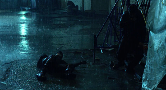 Matt fights Karen's attacker, as seen in the first episode of Marvel's Daredevil on Netflix