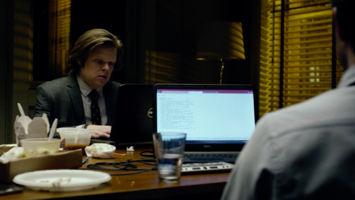 Matt's computer has an attached braille display, as seen in the third episode of Marvel's Daredevil