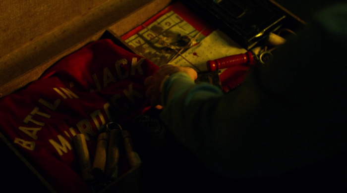 Matt keeps his father's things in his chest, seen in episode nine of Marvel's Daredevil on Netflix