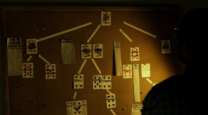 Ben Urich's big board, as seen in episode six of Marvel's Daredevil on Netflix