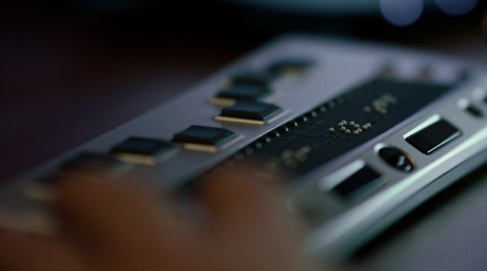 Close-up of Matt's braille display, as seen in the eighth episode of Marvel's Daredevil