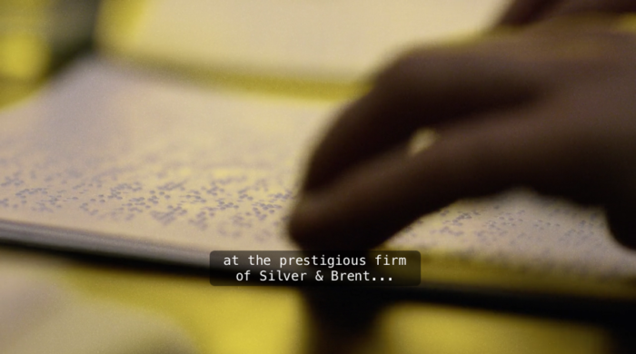Matt reads braille, as seen in episode seven of Marvel's Daredevil on Netflix