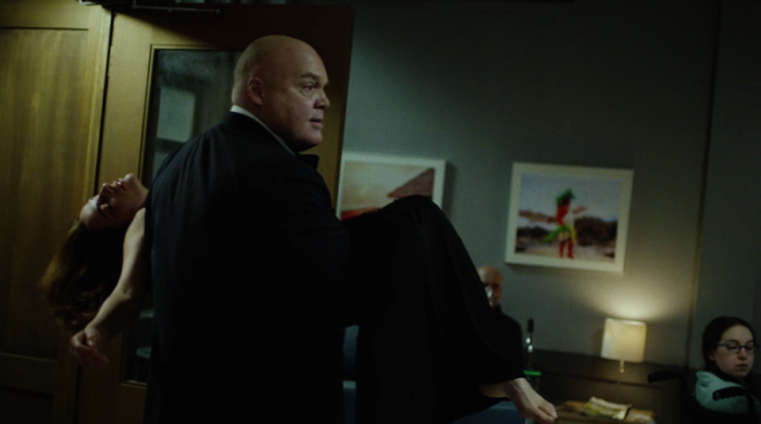 Wilson Fisk rushes Vanessa to the ER, as seen in episode eleven of Marvel's Daredevil on Netflix