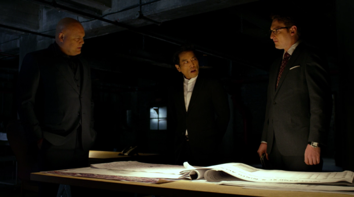 Fisk and Wesley meet with Nobu, as seen in episode nine of Marvel's Daredevil on Netflix