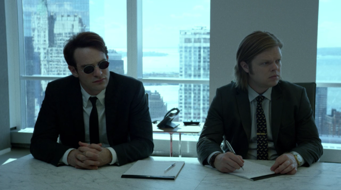 Matt and Foggy interning at Landman and Zack, as seen in episode ten of Marvel's Daredevil on Netflix