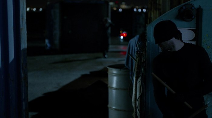 Matt at the docks, from episode seven of Marvel's Daredevil on Netflix
