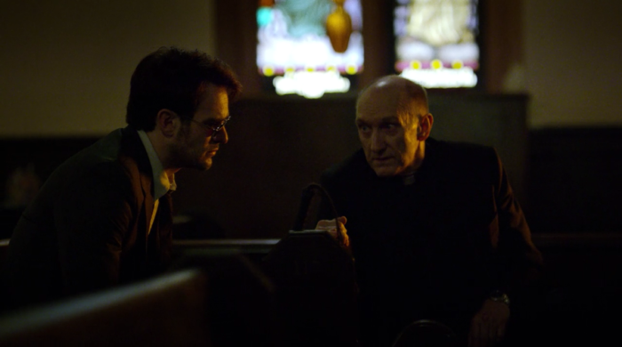 Matt seeks out Father Lantom a second time, from Marvel's Daredevil on Netflix